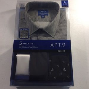Dress Shirt Set Apt.9 Slim Fit 16-16.5 Large